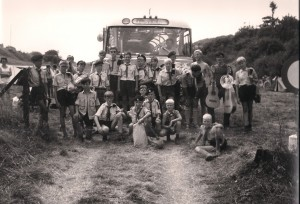 Verkenners Markiezaatsgroep op zomerkamp in Wiltz, Luxemburg, 1968