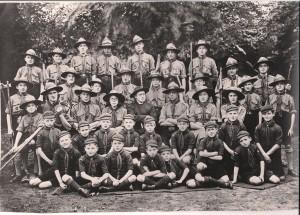 Welpen, verkenners en voortrekkers van de St Tarcisiusgroep, 1934