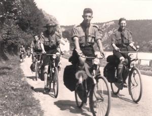 Voortrekkers St Tarcisiusgroep op fietstrektocht in de Ardennen, 1934