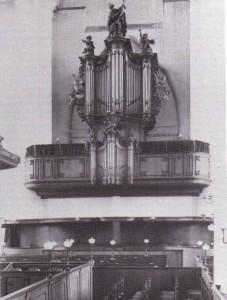 Het De la Haye orgel ging bij de kerkbrand op 10 april 1972 geheel verloren