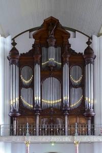 Het Ibach orgel is oorspronkelijk gebouwd voor de Maagd. Toen deze kerk tot theater werd verbouwd is het naar de Gertrudiskerk verhuisd. Het is thans geheel gerestaureerd.
