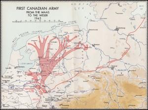 De verdere opmars in 1945 na het Ardennenoffensief