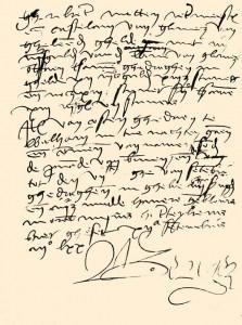 Handschrift Jan II van Glymes