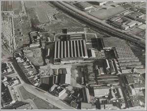 Luchtopname haardenfabriek Beckers 15 jan 1973
