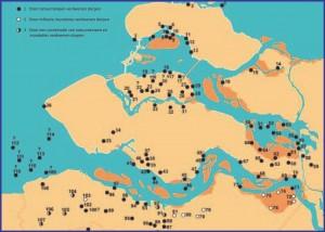 Een overzicht van in de provincie Zeeland verdwenen dorpen. Bron: scez