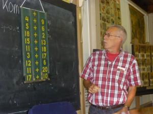 Een flexibel middel voor het samenstellen van rekenopgaven, de inleider noemde het lachend 'de eerste computer'