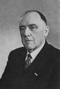 Oprichter Hubertus Beckers zoals afgebeeld in het jubileumboekje uit 1961