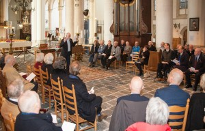 Reverend Willem Vermeulen speaks a remembrance for all the victims of the attack in the 8th of March 1814, and for the former initiators to the replacing of the rembrance monuments as well.