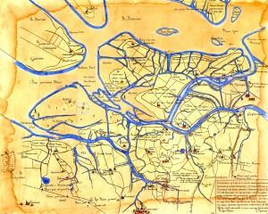 De kaart van Jan Symonszoon Indervelde uit 1565