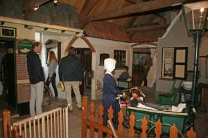 De bovenverdieping van museum Den Aanwas omvat een heus straatje met huisjes en winkeltjes