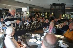 Jos van Rijn bedankt de vrijwilligers namens het GK bestuur