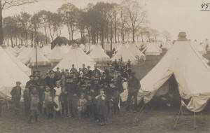 Een blik op het tentenkamp op Kijk in de Pot in oktober/november 1914