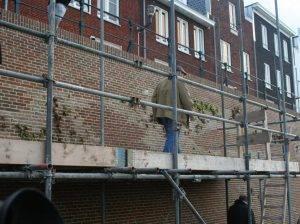 De begroeiing op de muur is bepaald geen 'overgeslagen deel, maar zijn zorgvuldig bewaarde beschermde planten